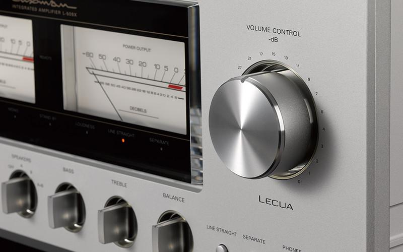 luxman 509x front panel lecua detail